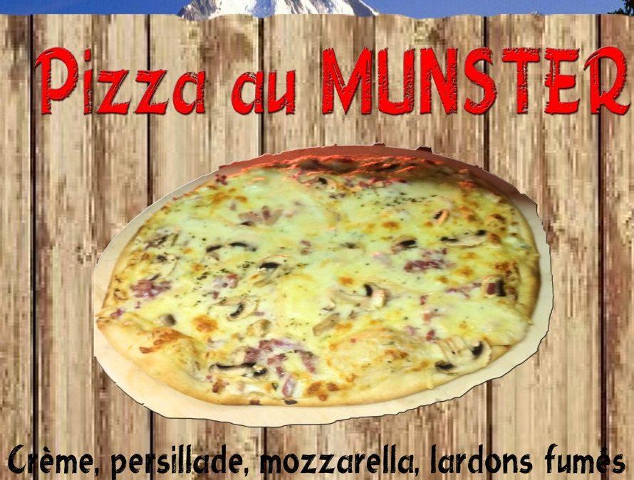 Pizza Munster ….la nouvelle pizza du mois