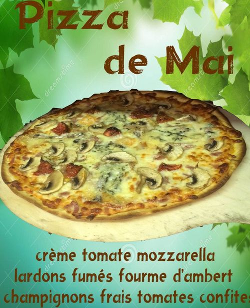 Pizza à la Fourme d'Ambert