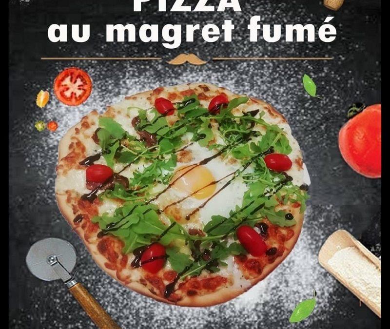 pizza au Magret fumé