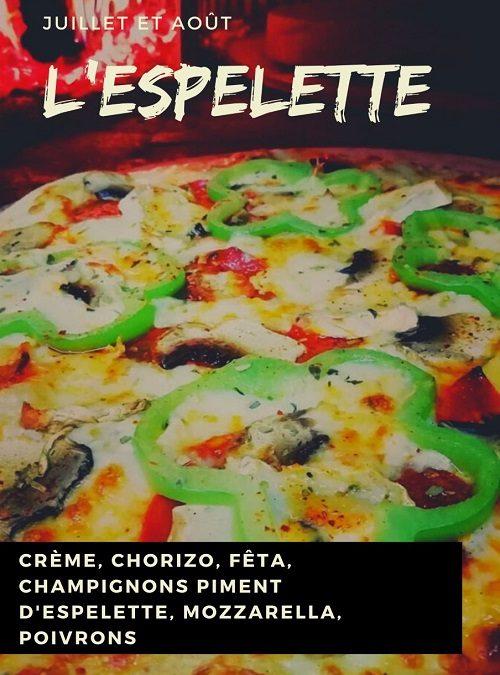 venez savourer la Pizza Espelette